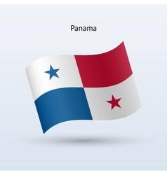 Panama flag waving form vector image