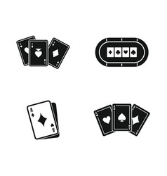 playing cards icon set simple style vector image
