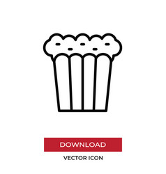 popcorn icon in modern style for web site and vector image