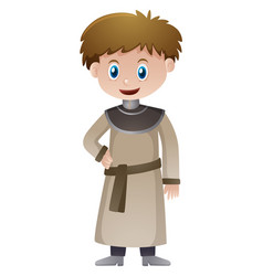 Priest in medieval time vector