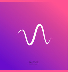 Radio wave icon pulse beat line sound vector