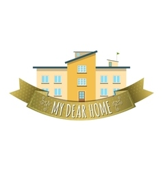 Real Estate Emblem vector image