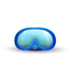 realistic scuba diving mask goggles vector image