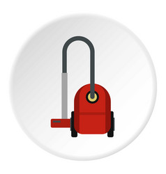 Red vacuum cleaner icon circle vector