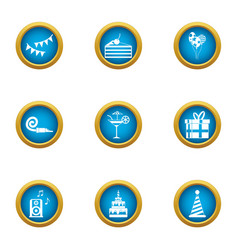 Remembrance icons set flat style vector