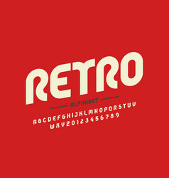 retro style font design eighties inspired vector image