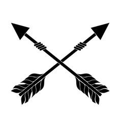 Rustic arrows with ornamental design vector