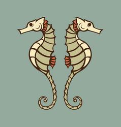 seahorse logo icon vector image