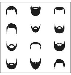 Set of vintage bearded men vector