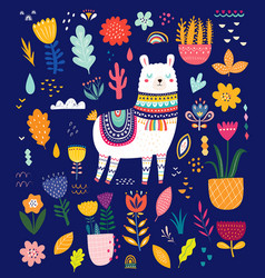 set with llama vector image