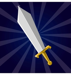 Shining sword vector image