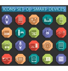 Smart Devices in Flat Style vector image