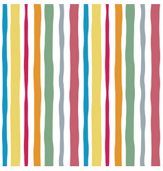 Striped watercolor lines color seamless pattern vector