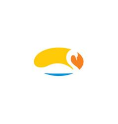 swan logo design icon sign element vector image