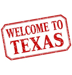 Texas - welcome red vintage isolated label vector