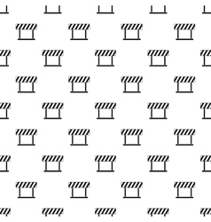 Traffic barrier pattern simple style vector