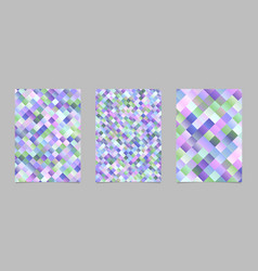 Trendy square pattern poster template set vector