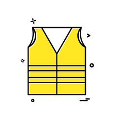 vest icon design vector image