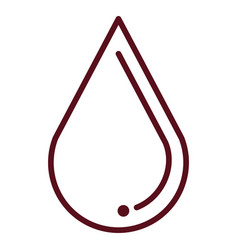 Water drop ecology icon vector