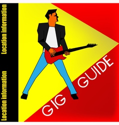 Gig Guide Background vector image