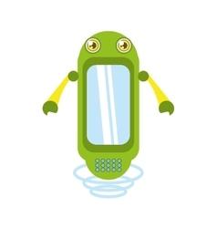 green robot technology innovation vector image