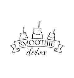 smoothie detox logo isolated vector image vector image