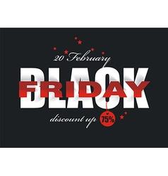 Black Friday sale design vector image vector image