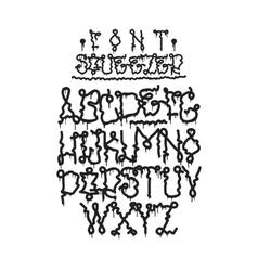 Graffiti font squeezer vector image vector image