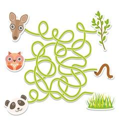 owl panda kangaroo labyrinth game for Preschool vector image vector image