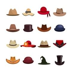 set of man and woman hats vector image