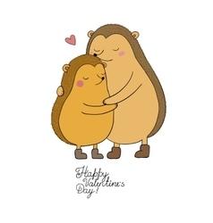 A couple of cute cartoon hedgehogs Funny animals vector image vector image