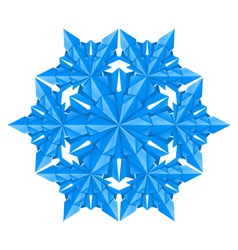 blue paper snowflake on a white background vector image vector image