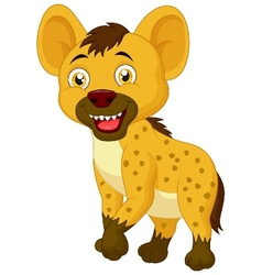 Cute hyena cartoon vector image vector image