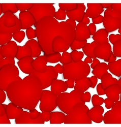 festive background with red hearts vector image vector image