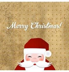 Greeting Retro Card With Santa Claus vector image