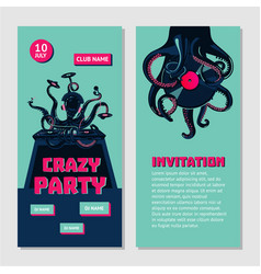 hip-hop party bilateral invitation for nightclub vector image vector image