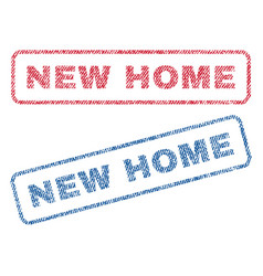 new home textile stamps vector image