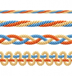 seamless set of rope elements vector image vector image