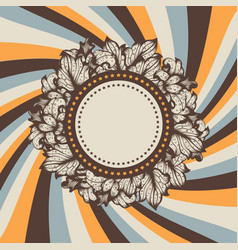 vintage fun background vector image vector image