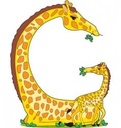 animal alphabet giraffe vector image vector image