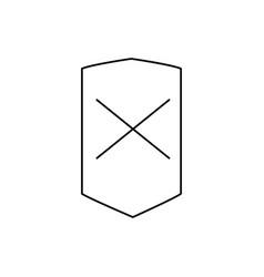 error shield icon vector image