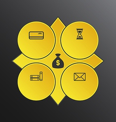 Modern design circles with info graphic icons vector image vector image