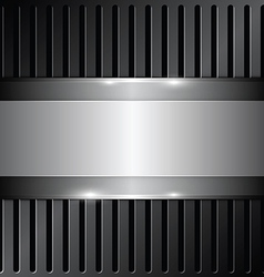 shiny metallic on grille background vector image