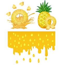 a pineapple on white background vector image