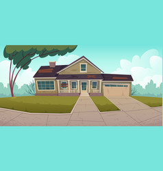 abandoned house old residential suburban cottage vector image