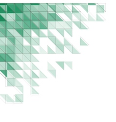 abstract triangles aqua vector image