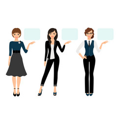 Adult woman business presenting vector