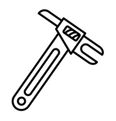 architectural key icon outline style vector image