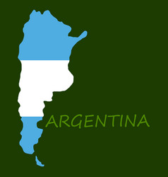 argentina flag map vector image