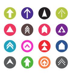 arrow icon set web pictograph design vector image